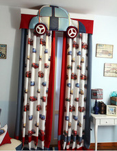 curtains for children boy cortinas with rings or hooks curtain for living room custom made cortina 4 pieces/lot