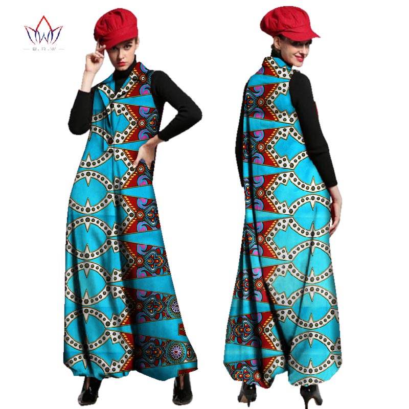 Autumn beautiful and cheap african women jumpersuit with print women african clothing dashiki pants loose plus size none WY2443