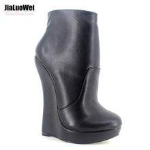 Fetish Stallion Horse Hoof Sole Ankle Boots With Zip BDSM Platform Runway Rock Star Night Club Goth Punk Hi Heel Boot