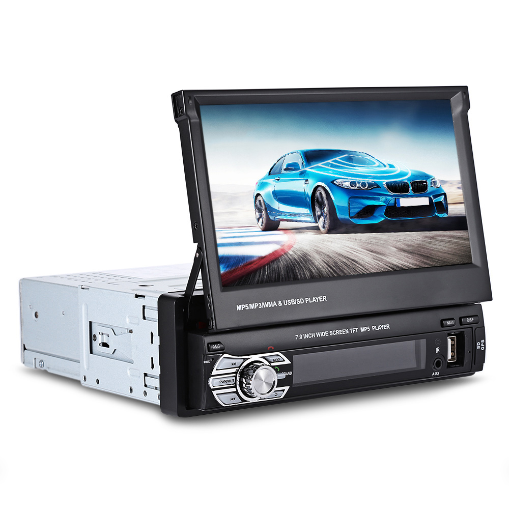 Universal 7.0 inch TFT LCD Screen 1 Din Car Radio Car Multimedia Player Bluetooth Auto Audio Stereo FM Radio GPS Navigation 8 inch 2 din tft screen car dvd player with radio bluetooth radio gps ipod functions for volkswagen