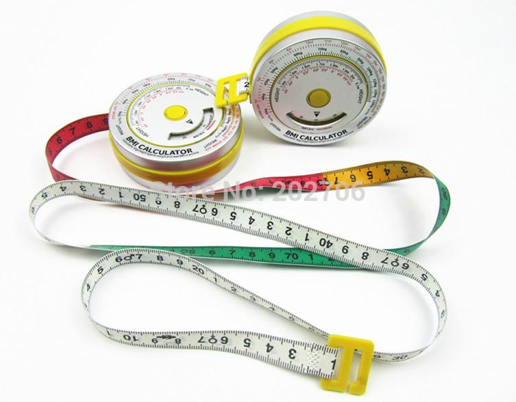 Aluminum BMI measure tape Bmi Calculator Health Tape Measure for Promotion Gift body Mass Index with
