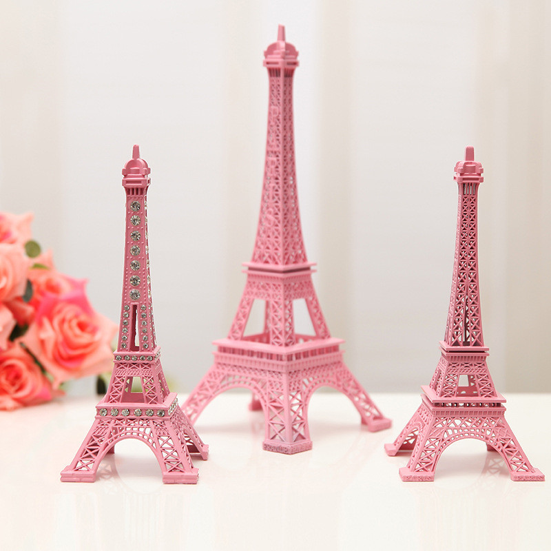 Bronze Tone Paris Eiffel Tower Statue Antique Figurine
