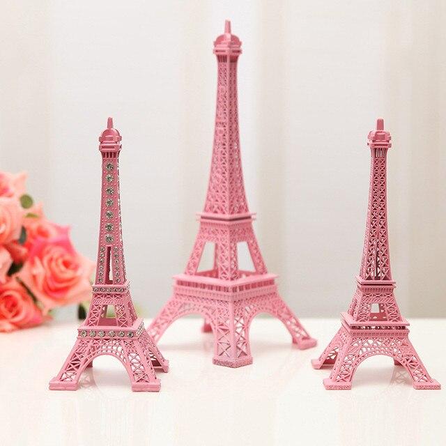 Bronze Tone Paris Eiffel Tower Statue Antique Figurine Home Decor Vintage Metal