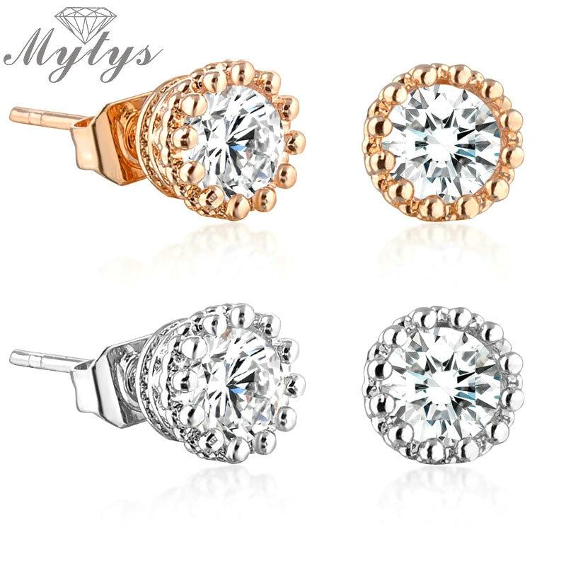 35pcs Argent Européen Zircone Cubique Charme Cristal Rose Spacer Beads Fit Collier Bracelet