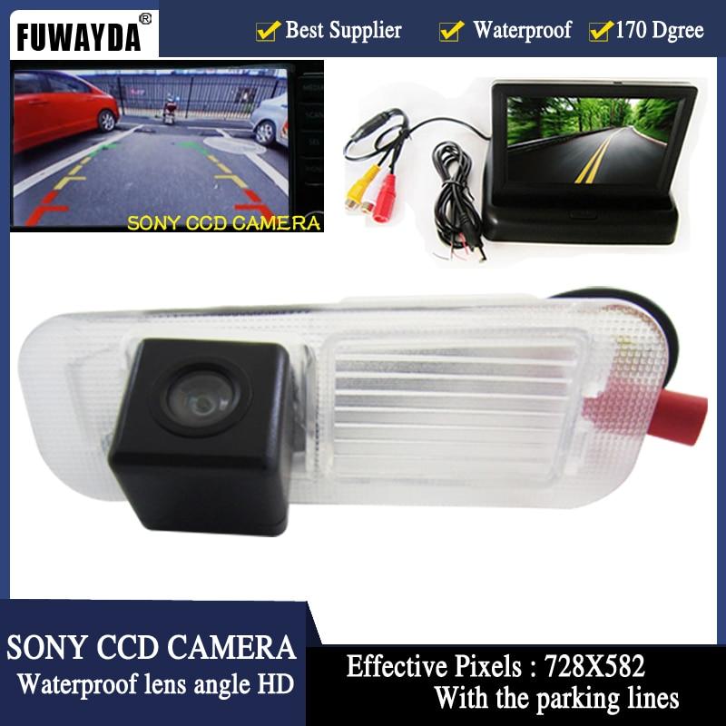 FUWAYDA car accessories Paking HD Revere SONY CCD Car Rear View Camera 4.3 inch Car Rearview Mirror Monitor For Kia K2 RIO Sedan