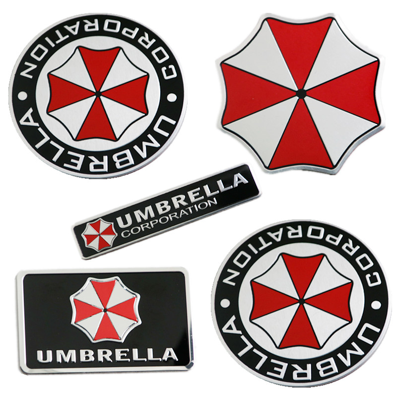 1*Metal 3D Resident Evil Umbrella Corporation Car Badge Emblem Car Sticker CL