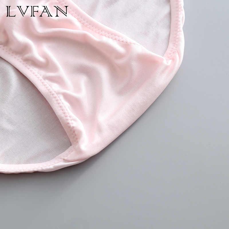 Niski wzrost kobiece majtki naturalny jedwab stałe cienkie kobiety podstawowy styl seksowna bielizna różowe spodnie dziewczęce spodnie LVFAN GT-034