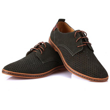 Summer Breathable Suede Leather Shoes British Man Cut Outs Dress Shoes Big Size 38-47 XMP179