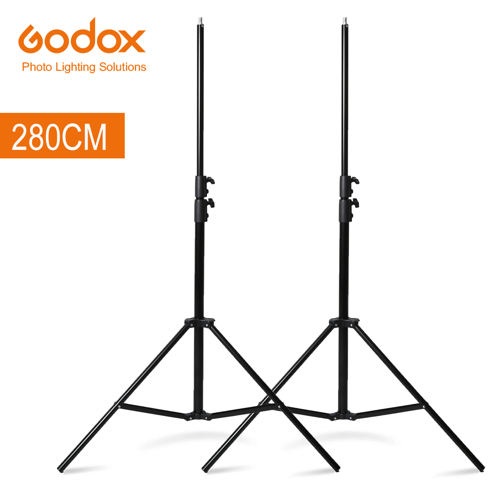 Free DHL 2x Godox 280cm 9FT Studio Lighting Photo Light Stand for Flash Strobe Continuous Light