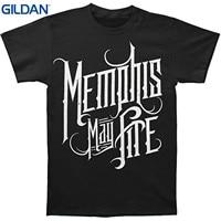 GILDAN 2017 New 100 Cotton Top Quality Memphis May Fire Men S Hollow T Shirt Black