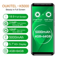 Oukitel K5000 5 7 4G LTE Mobile Phone 18 9 Display MTK6750T 4G 64G Octa Core