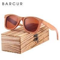 BARCUR Natural de Madeira De Madeira Óculos De Sol para Homens Óculos Polarizados oculos de sol feminino frete gratis