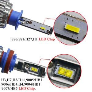 Image 5 - AICARKAS 2PCS T1 Turbo LED 7200LM 6000K H4 H1 H3 Car Headlight H7 LED H11 880/881/H27 9005 HB3 9006 HB4  9007 HB5 Fog Light Bulb