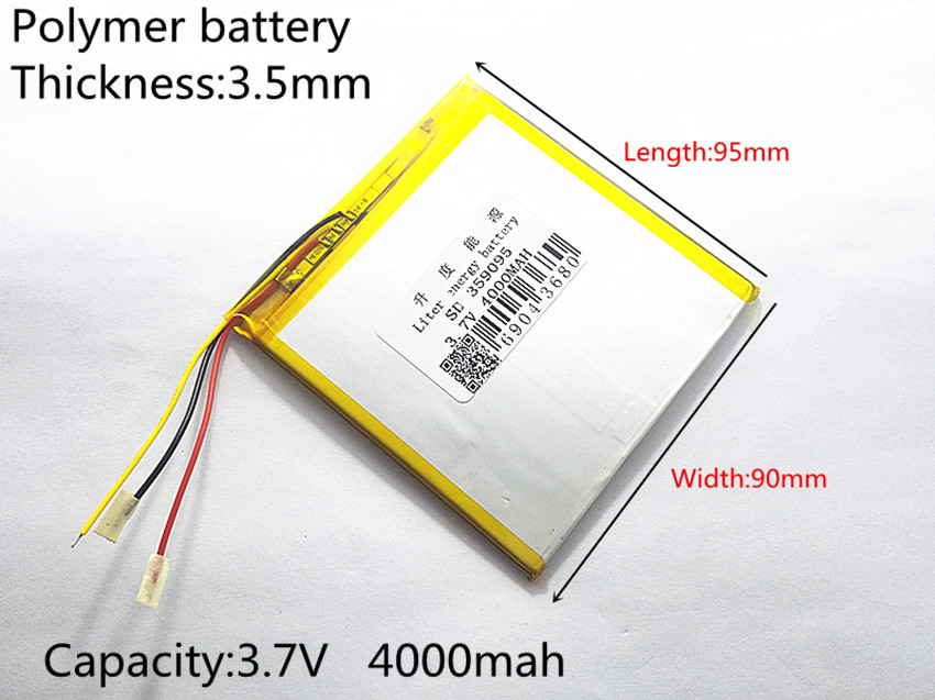 Free shipping 3.7 V 4000 mah tablet battery brand tablet gm lithium polymer battery 359095 free shipping brand teclast taipower p76s tablet pc mid large capacity lithium battery 357090 panels