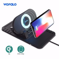 Fast Qi Wireless Charger Car Mount Wireless Cell Phone Charger Android For Iphone X 8 Samsung