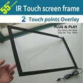 Free Shipping  55inch 16:9 Ratio IR touch screen frame with true 2 points touch for multi touch table
