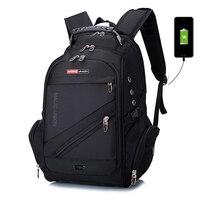 BAIJIAWEI Laptop Backpack External USB Charge Computer Backpacks Anti theft Waterproof Bags for Men Women school backpack