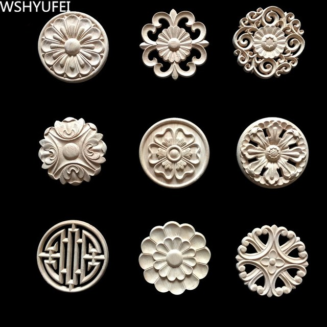 wood furniture appliques. Wood Appliques For Furniture. 2pcs/lot Flower Carving Natural Furniture Cabinet .