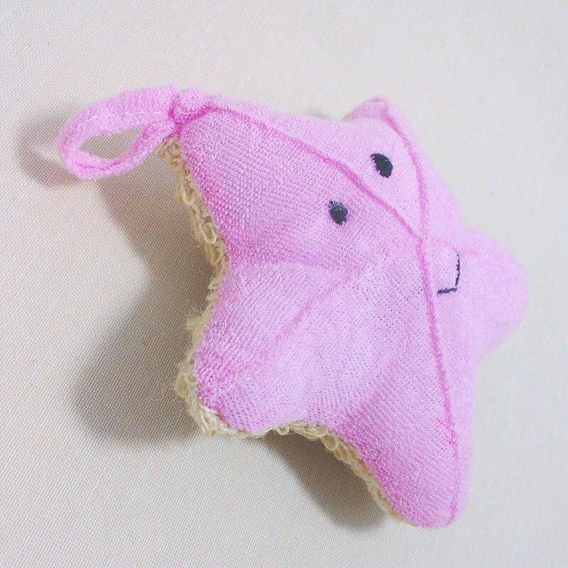 New Bath Gloves Cute Baby Bath Sponge Cartoon Starfish Super Soft Cotton Brush Rubbing Towel Ball 2017 SK88