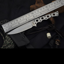 PSRK 12C27 Blade All Steel Handle Fixed Knife Shark Outdoor Tactical Small Straight Knife 59HRC Survival Camping EDC Gift Knife