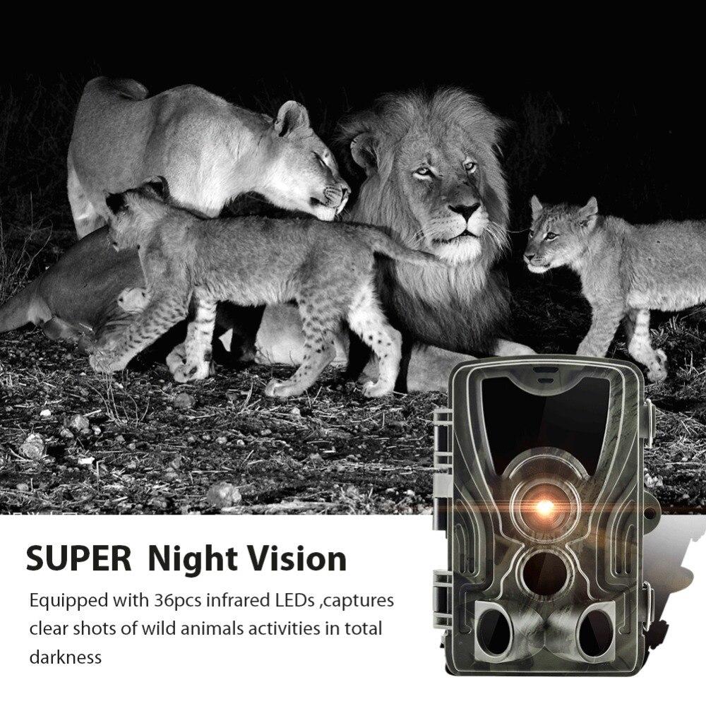 Goujxcy HC801A caméra de Chasse 16MP caméra de sentier Vision nocturne forêt étanche caméra de faune photo pièges caméra Chasse Scouts - 4