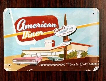 30x20cm American Diner Vintage Home Decor Tin Sign Wall Metal Art Poster Retro