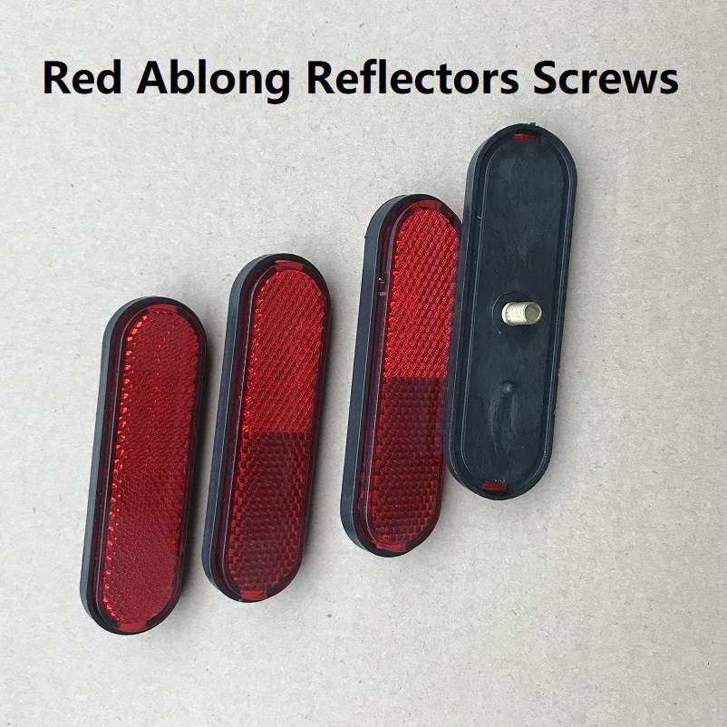4XAblong Reflectors Screwed Side Rear/Tail/Signal Reflective Effect Parts 100*30*10mm RV Caravan Motorhome Bus Trucks Red