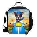 2016 Animal Bonito Cão Huskey Lunch Bag Para Crianças de Alimentos Isolados Almoço Saco térmico Para As Meninas Meninos Sacos De Piquenique Para crianças