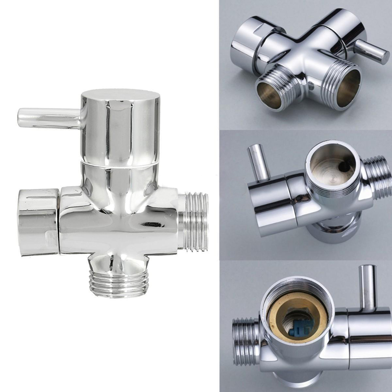 brass 3ways shower head diverter valve bathroom toilet sprayer faucet tadapter for