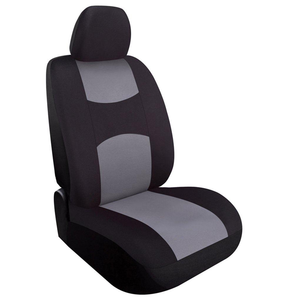 NewNewestCharcoal Car Seat Covers Set Universal Fit For Sedan SUV Truck Split Bench Seat Cover Accessories Car Seat Protectors