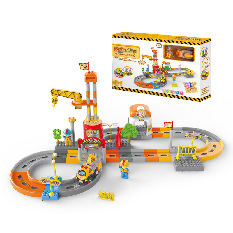 Electric Puzzle Track Toys Children Engineering Track Car