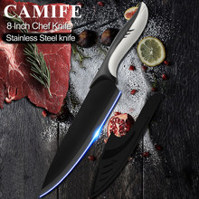 Stainless Steel Kitchen Knife Chef Knives 8 inch Japanese 3CR13 High Carbon Stainless Steel Vegetable Santoku Cleaver Knife Tool(China)
