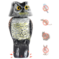 Вращающаяся на 360 градусов Голова Статуя Совы отпугивают крыс птицы с твитами Сова декор для Патио Пластиковые охраняя защищая садовые изоб...
