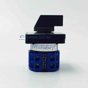 Image 4 - LW28 20 LW26 20 YMW26 serisi elektrikli/3/4 pozisyon 8 terminalleri döner kam geçiş anahtarı vidalar ile faydalı aracı 660V 20A