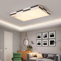 Горячая новая дизайнерская современная светодиодная Люстра для гостиной спальни светодиодные плафоны белый/черный квадратный современны