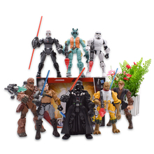 8 pcs/lot Hero Mashers Chewbacca Bossk Darth Vader Greedo Stormtrooper Anakin Skywalker Action Figure PVC Collectible Model Toys