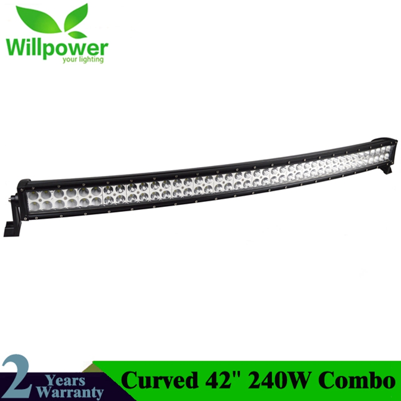 JEEPs 42 inch 240w combo waterproof IP67 offroad led work light curved led light bars for trucksJEEPs 42 inch 240w combo waterproof IP67 offroad led work light curved led light bars for trucks