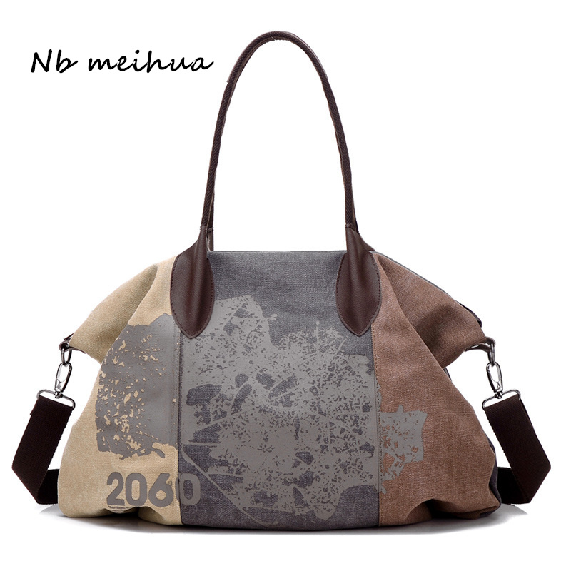 Vintage Women Canvas Bag Brands Fashion Casual Large Capacity Hobos Bag Ladies Crossbody Bags Trapeze Ruched Shoulder Bags Print aosbos fashion portable insulated canvas lunch bag thermal food picnic lunch bags for women kids men cooler lunch box bag tote