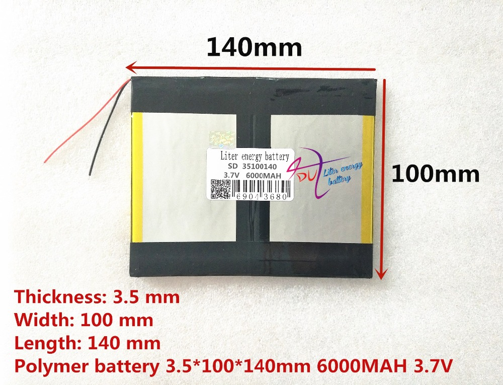 3.7v 6000mAH (polymer lithium ion battery) Li-ion battery for tablet pc 9.7 inch 10.1 inch speaker [35100140] 3 7v 12000mah 1640138 combination rechargeable lipo polymer lithium li ion battery for power bank tablet pc laptop pad pcm board