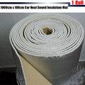 1 Rollo de 1000 cm x 100 cm Papel De Aluminio Del Coche Campana Turbo Firewall Sound Deadener Deadening Aislamiento Estera A Prueba de Calor el Envío Gratuito!