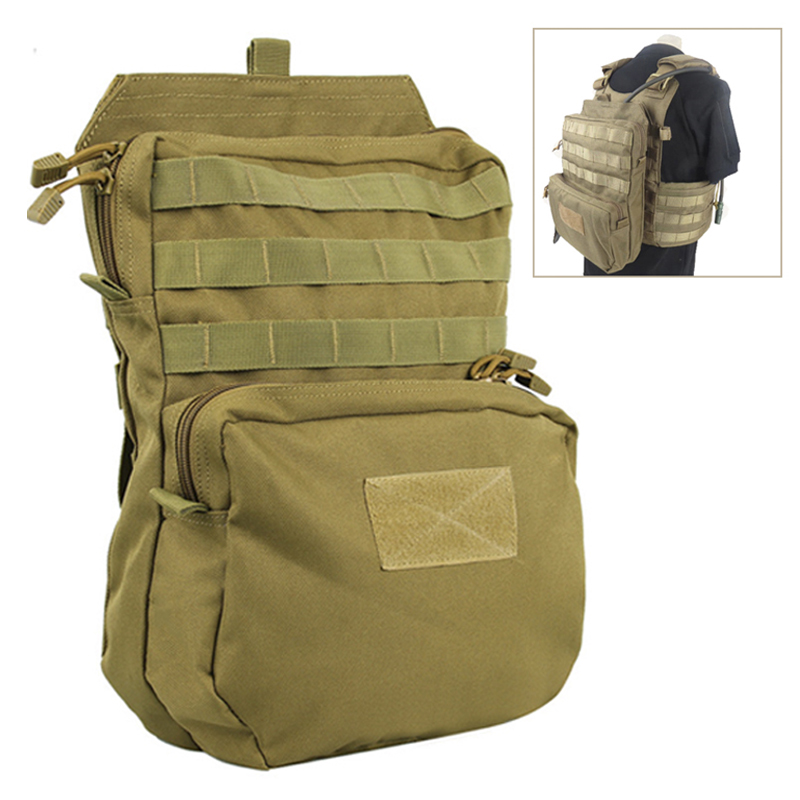 3L Hydration Pouch Modular Webbing MOLLE For 1000D Water Bag Durable H2O Pouch Attached To Tactical Vest Hydration Backpack