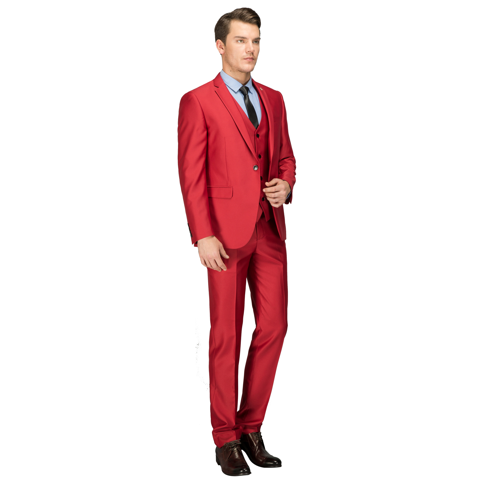 13fc77f23b8 OSCN7 Red 3PCS Customize Suit Men Party Fashion Slim Fit Leisure Costume  Homme Plus Size Leisure Men s Suits 10083R3-in Tailor-made Suits from Men s  ...