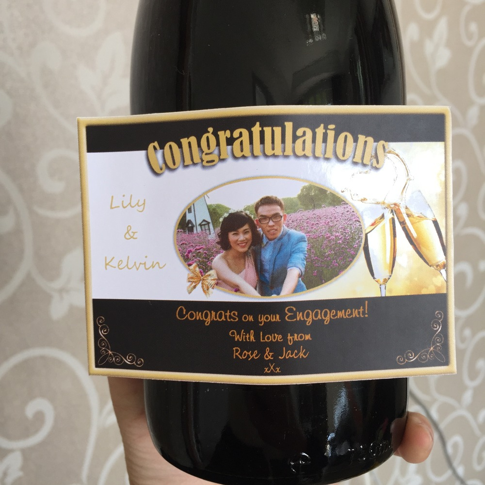 Us 15 19 5 offpersonalized wedding engagement party stickers custom wine champagne glass bottle decoration kits guests favors gifts labels in
