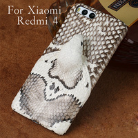 LANGSIDI Brand Phone Case Real Snake Head Back Cover Phone Shell For Xiaomi Redmi 4 Plus