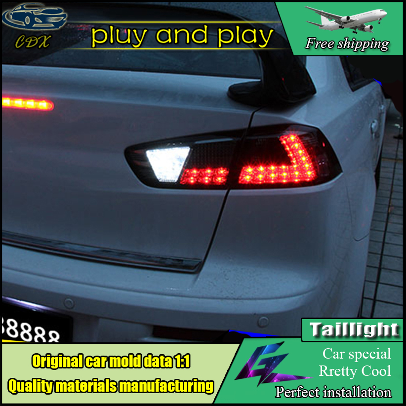 Car Styling For Mitsubishi Lancer EX Taillights 2008-2017 LED Tail Light LED Rear Lamp DRL+Brake+Park+Turn Signal Light car styling led tail lamp for mitsubishi lancer tail lights for lancer rear light drl turn signal brake reverse led light