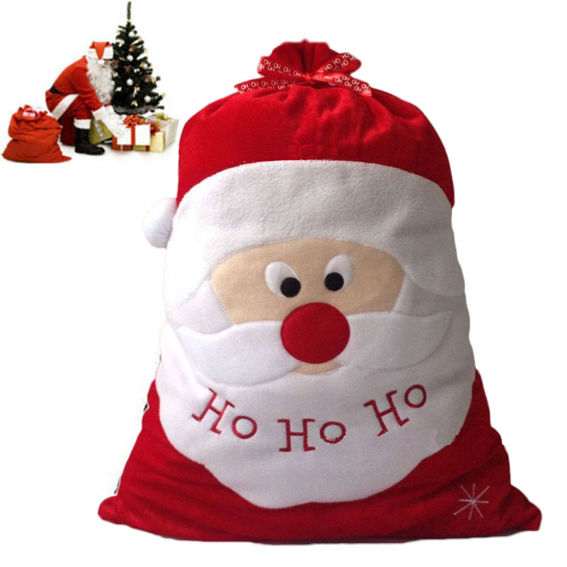 christmas gift bag christmas tree decoration santa claus kids candy bag 5070cm home party christmas xmas decoration gifts bag in stockings gift holders - Christmas Decorations Large Santa Claus