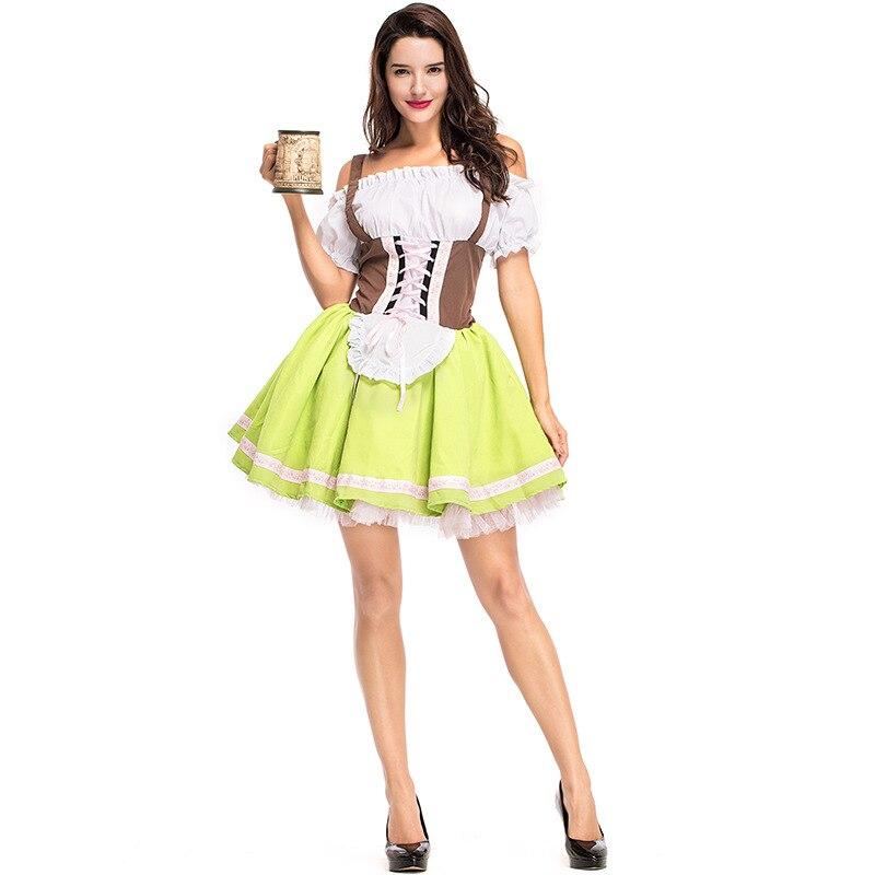 26b519518b6f Adult Woman Oktoberfest Pullover Style Classic Bavarian Dirndl German Beer  Girl Fancy Dress Costume Plus Size Available