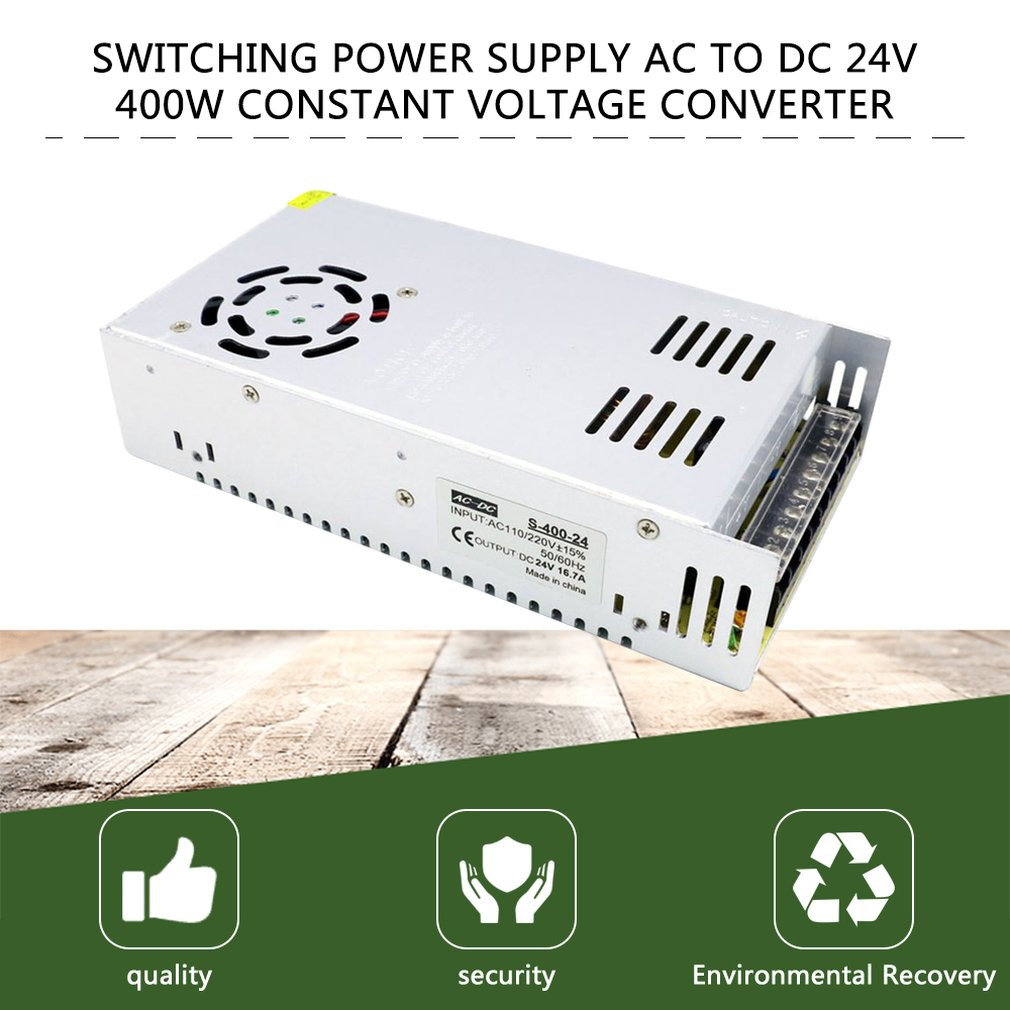 Professional Switching Power Supply Ac To Dc 24V 400W Constant Voltage Converter(China)