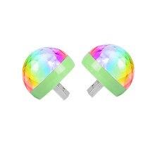 USB Mini Luz Festa Em Casa Discoteca Luzes Portátil DC 5V USB Alimentado Levou Palco Bola Partido Iluminação DJ Karaoke luzes Do Partido Brithday