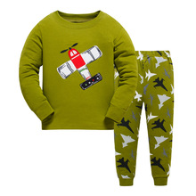 Купить с кэшбэком 2PCS Kids Baby Pajamas Set Toddler Kid Boys Shark Pijamas Long Sleeve Pyjamas set Tops Long Pants Sleepwear 3-8 Y
